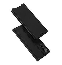 Dux Ducis Dux Ducis - Slim bookcase hoes - Sony Xperia 10 III - Zwart