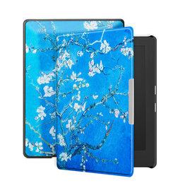 Lunso Lunso - sleepcover hoes - Kobo Aura H20 edition 1 (6.8 inch) - Van Gogh Amandelbloesem