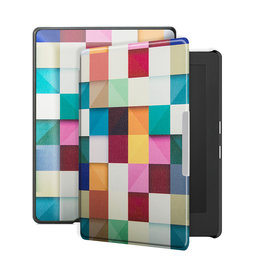Lunso Lunso - sleepcover hoes - Kobo Aura H20 edition 1 (6.8 inch) - Blokken