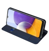 Dux Ducis Samsung Galaxy A22 4G Slim Bookcase hoes Blauw