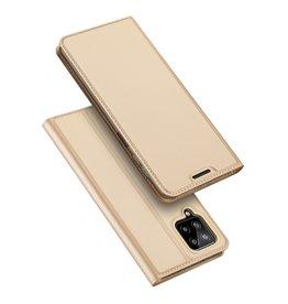 Dux Ducis Dux Ducis - Slim bookcase hoes - Samsung Galaxy A22 4G - Goud