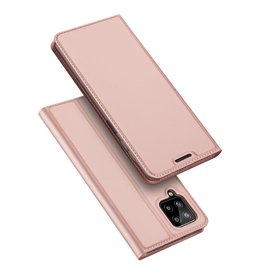 Dux Ducis Dux Ducis - Slim bookcase hoes - Samsung Galaxy A22 4G - Rose Goud