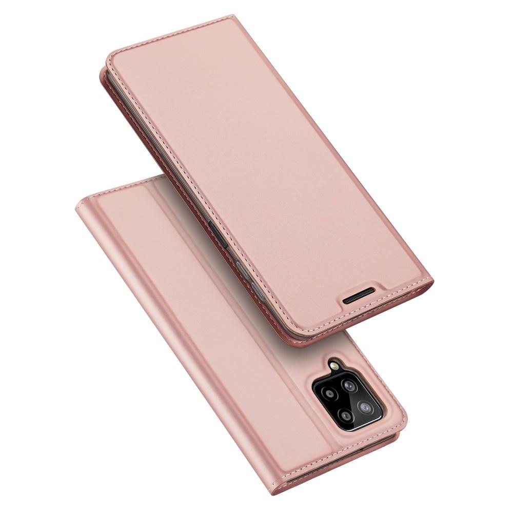 Dux Ducis Samsung Galaxy A22 4G Slim Bookcase hoes Rose Goud