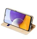 Dux Ducis Samsung Galaxy A22 5G Slim Bookcase hoes Goud