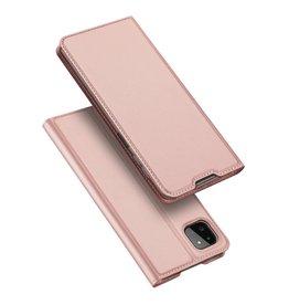 Dux Ducis Dux Ducis - Slim bookcase hoes - Samsung Galaxy A22 5G - Rose Goud