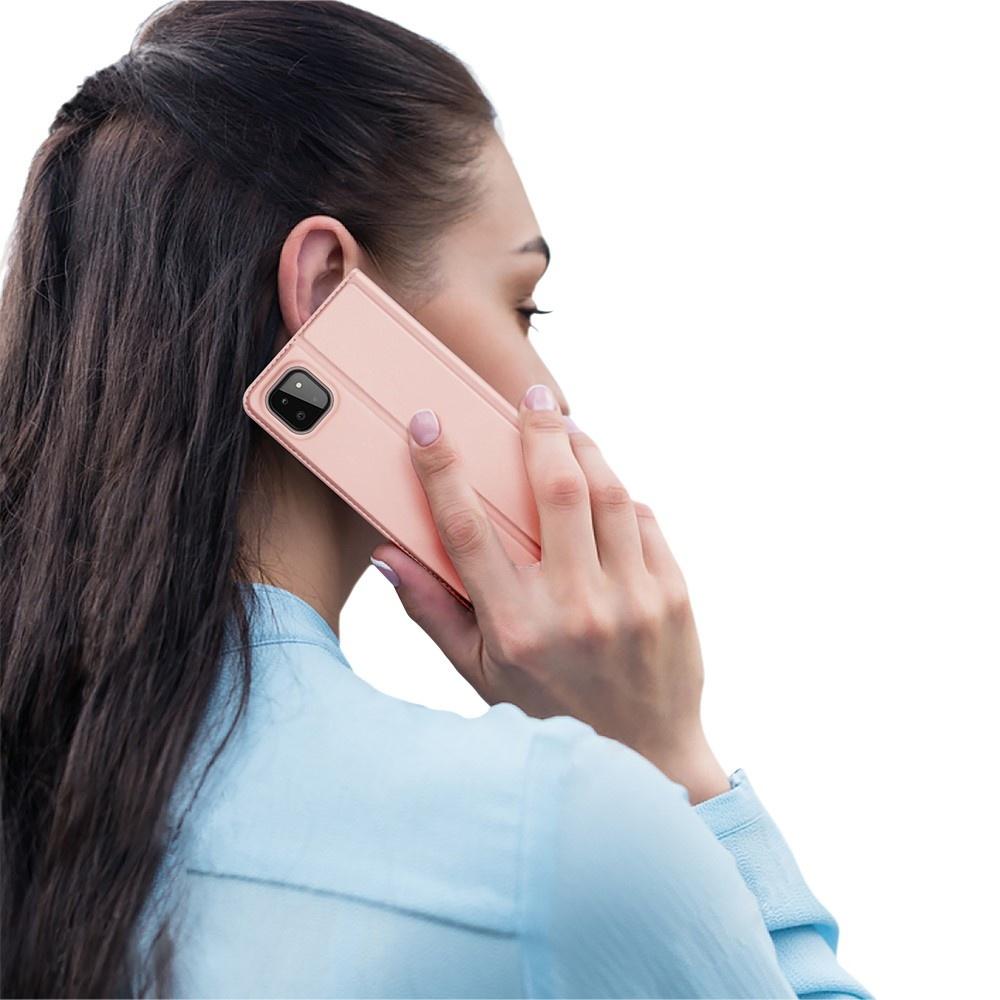 Dux Ducis Samsung Galaxy A22 5G Slim Bookcase hoes Rose Goud