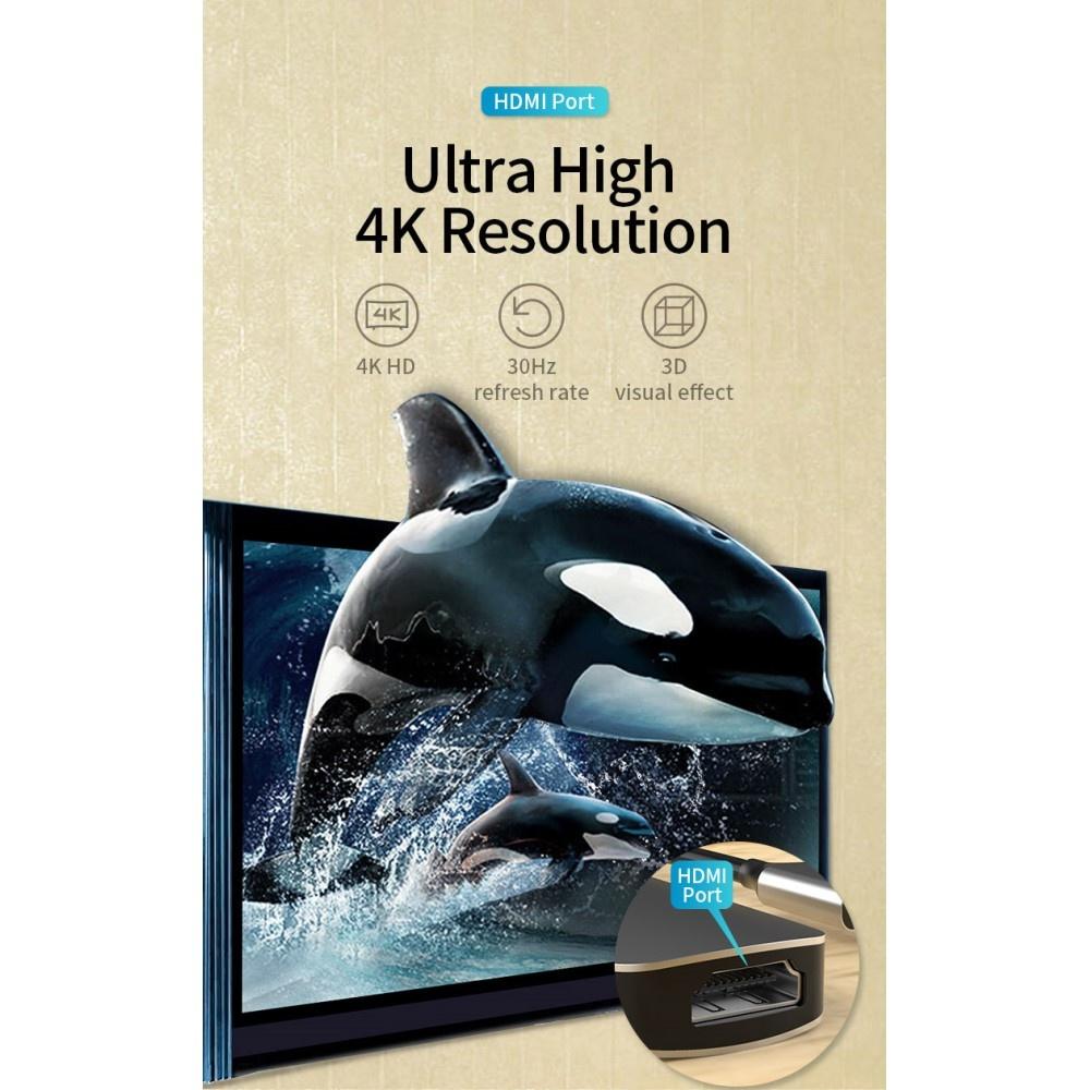 Lunso Adapter universeel van USB-C naar USB 3.0, 2.0, HDMI en TF/SD kaart