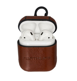 NorthLife NorthLife - Haga leren cover hoes - AirPods 1 / 2 - Cognac