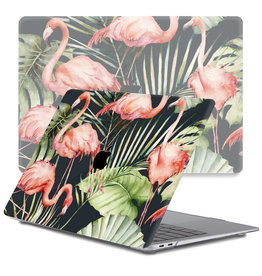 Lunso Lunso - cover hoes - MacBook Air 13 inch (2020) - Flamingo Jungle