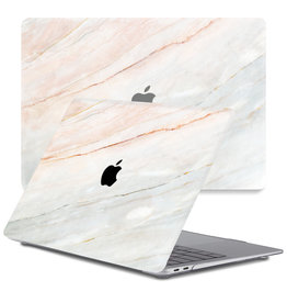 Lunso Lunso - cover hoes - MacBook Pro 13 inch (2020) - Marble Aiden