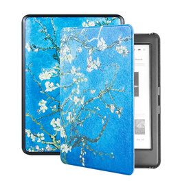 Lunso Lunso - sleepcover hoes - Kobo Glo / Glo HD / Touch 2.0 (6 inch) - Van Gogh Amandelbloesem