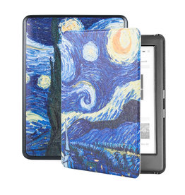 Lunso Lunso - sleepcover hoes - Kobo Glo / Glo HD / Touch 2.0 (6 inch) - Van Gogh De Sterrennacht
