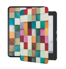 Lunso Lunso - sleepcover hoes - Kobo Glo / Glo HD / Touch 2.0 (6 inch) - Blokken