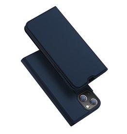 Dux Ducis Dux Ducis - Slim bookcase hoes - iPhone 13 Mini - Blauw