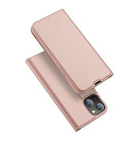 Dux Ducis Dux Ducis - Slim bookcase hoes - iPhone 13 Mini - Rose Goud
