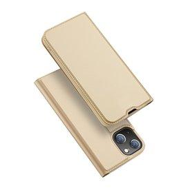 Dux Ducis Dux Ducis - Slim bookcase hoes - iPhone 13 Mini - Goud
