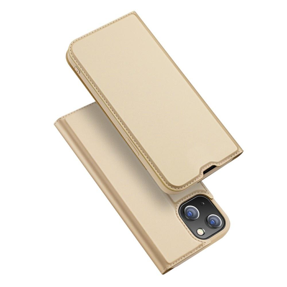 Dux Ducis iPhone 13 Slim Bookcase hoes Goud