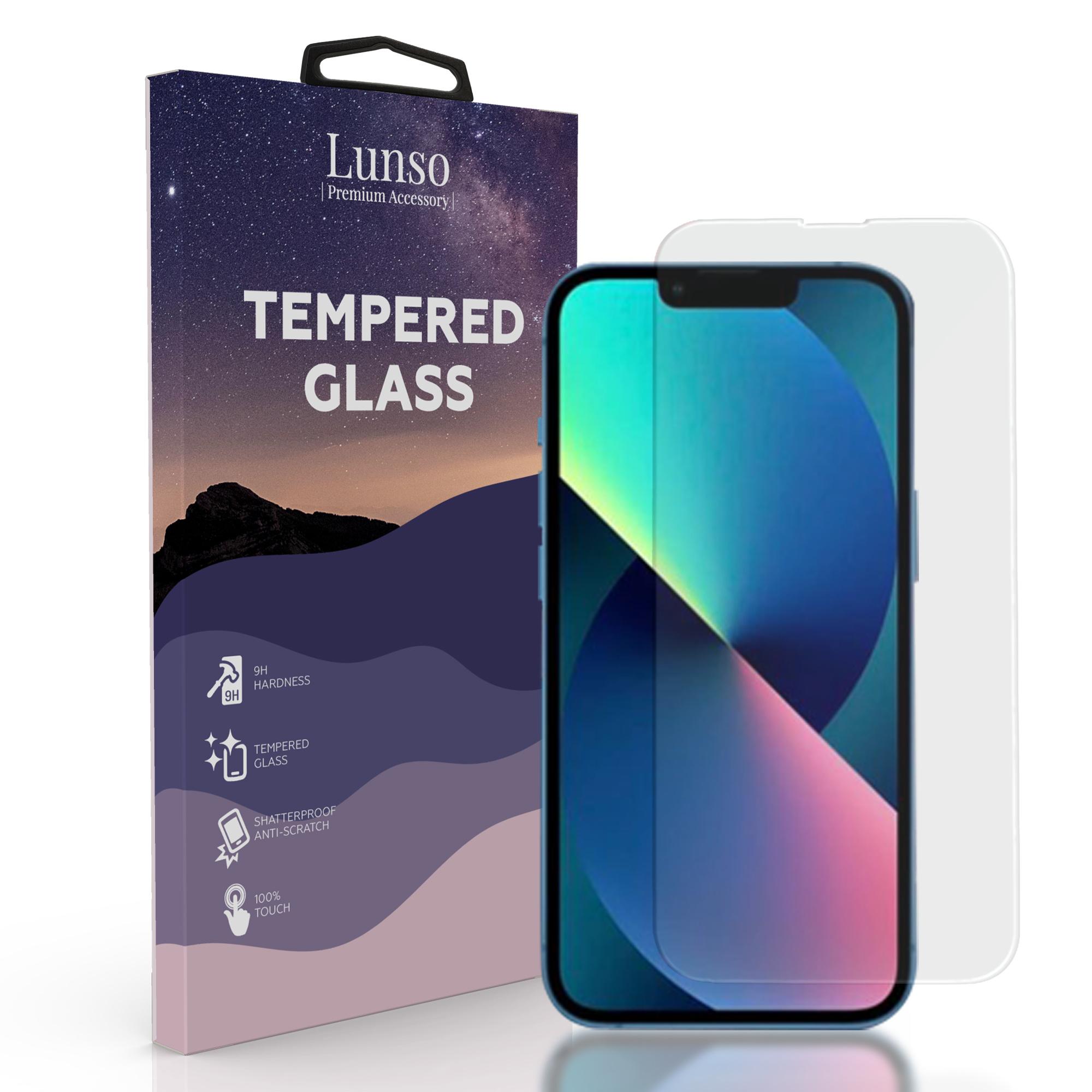 Lunso Gehard beschermglas (Tempered Glass) voor de iPhone 13 Mini
