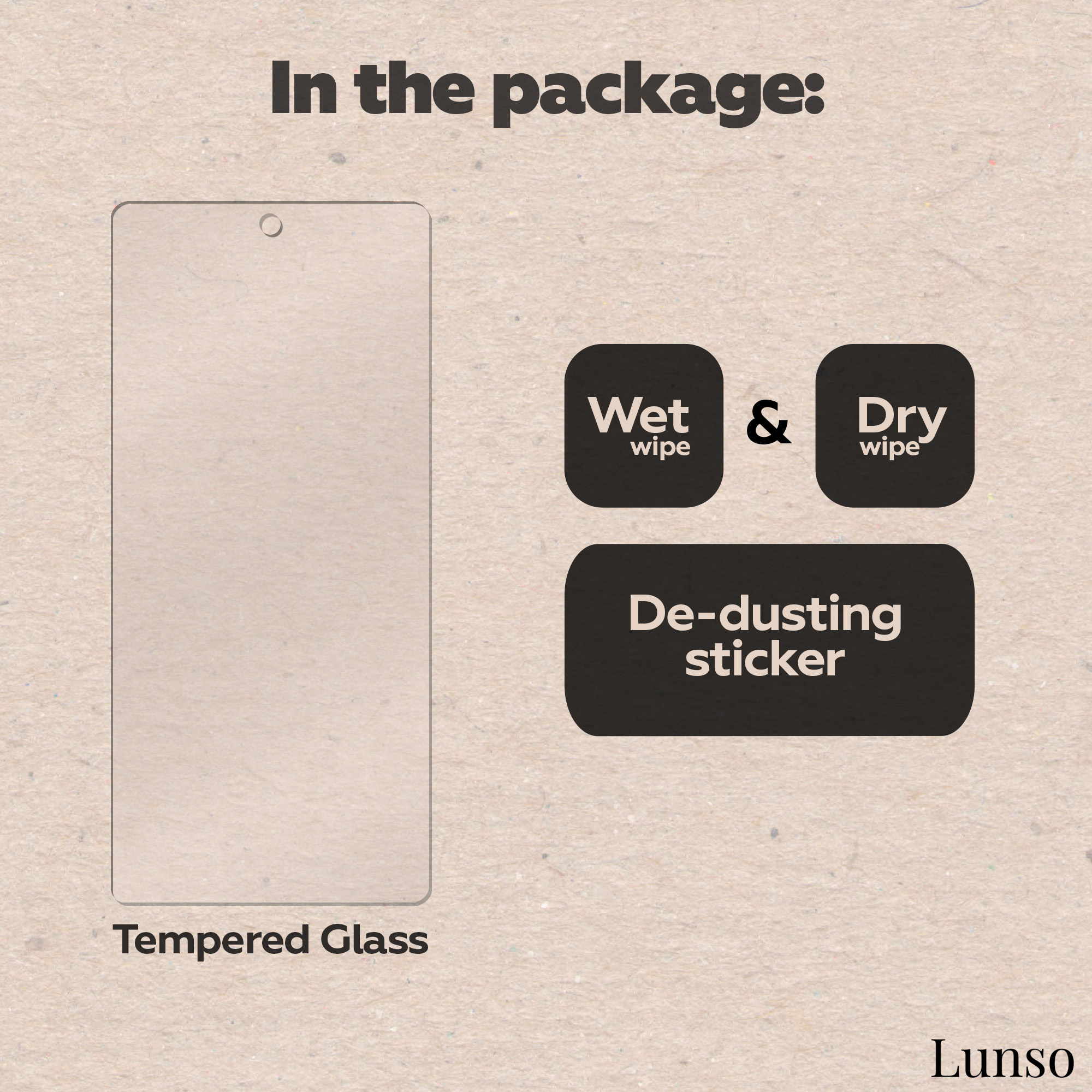 Lunso Gehard beschermglas (Tempered Glass) voor de iPhone 13 en iPhone 13 Pro