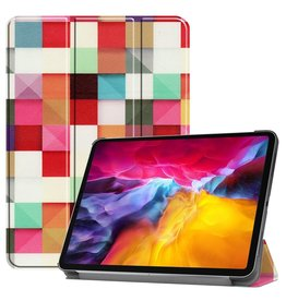 Lunso 3-Vouw sleepcover hoes - iPad Pro 11 inch (2018/2020/2021) - Blokken