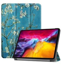 Lunso 3-Vouw sleepcover hoes - iPad Pro 11 inch (2018/2020/2021) - Van Gogh Amandelbloesem
