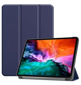 Lunso 3-Vouw sleepcover hoes - iPad Pro 12.9 inch (2021) - Blauw
