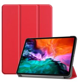 Lunso 3-Vouw sleepcover hoes - iPad Pro 12.9 inch (2021) - Rood