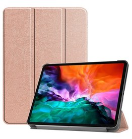 Lunso 3-Vouw sleepcover hoes - iPad Pro 12.9 inch (2021) - Rose Goud