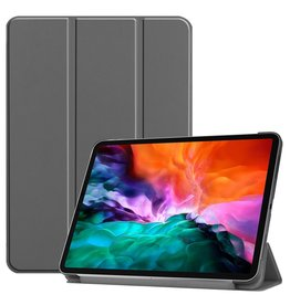 Lunso 3-Vouw sleepcover hoes - iPad Pro 12.9 inch (2021) - Grijs
