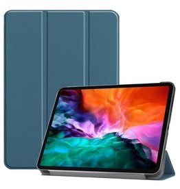 Lunso 3-Vouw sleepcover hoes - iPad Pro 12.9 inch (2021) - Donkergroen