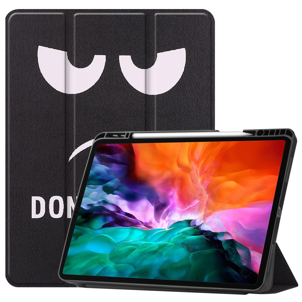 Lunso iPad Pro 12.9 inch 2021 sleepcover hoes 3-vouw Don't Touch