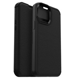 Otterbox iPhone 13 - Otterbox - Strada Case wallet hoes -  Zwart + Lunso Tempered Glass