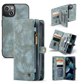 Caseme iPhone 13 Mini - Caseme - vintage 2 in 1 portemonnee hoes - Blauw