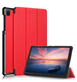 Lunso 3-Vouw sleepcover hoes - Samsung Galaxy Tab A7 Lite - Rood
