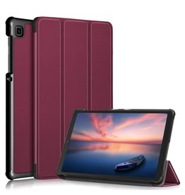 Lunso 3-Vouw sleepcover hoes - Samsung Galaxy Tab A7 Lite - Bordeaux Rood