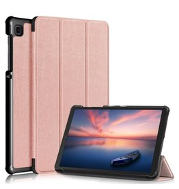 Lunso 3-Vouw sleepcover hoes - Samsung Galaxy Tab A7 Lite - Rose Goud