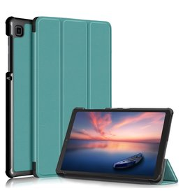 Lunso 3-Vouw sleepcover hoes - Samsung Galaxy Tab A7 Lite - Groen