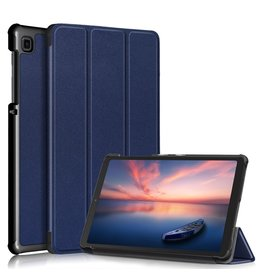 Lunso 3-Vouw sleepcover hoes - Samsung Galaxy Tab A7 Lite - Blauw
