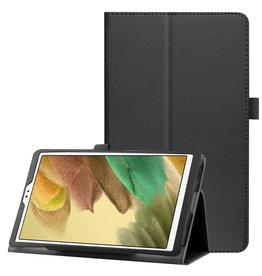 Lunso Lunso - Stand flip sleepcover hoes - Samsung Galaxy Tab A7 Lite - Zwart