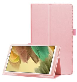 Lunso Lunso - Stand flip sleepcover hoes - Samsung Galaxy Tab A7 Lite - Lichtroze