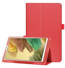 Lunso Lunso - Stand flip sleepcover hoes - Samsung Galaxy Tab A7 Lite - Rood