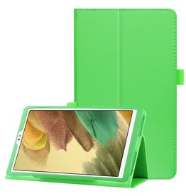 Lunso Lunso - Stand flip sleepcover hoes - Samsung Galaxy Tab A7 Lite - Groen
