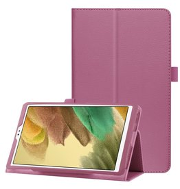 Lunso Lunso - Stand flip sleepcover hoes - Samsung Galaxy Tab A7 Lite - Paars