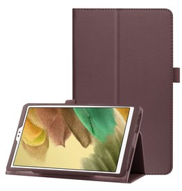 Lunso Lunso - Stand flip sleepcover hoes - Samsung Galaxy Tab A7 Lite - Bruin