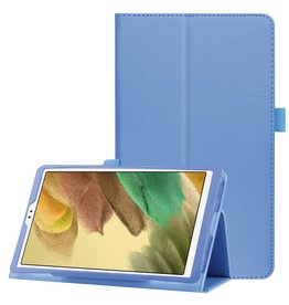 Lunso Lunso - Stand flip sleepcover hoes - Samsung Galaxy Tab A7 Lite - Lichtblauw