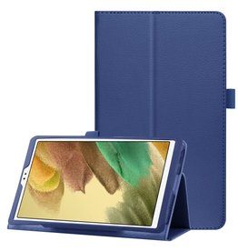 Lunso Lunso - Stand flip sleepcover hoes - Samsung Galaxy Tab A7 Lite - Blauw