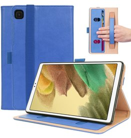 Lunso Luxe stand flip sleepcover hoes - Samsung Galaxy Tab A7 Lite - Blauw