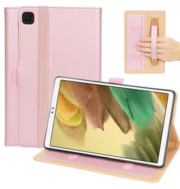 Lunso Luxe stand flip sleepcover hoes - Samsung Galaxy Tab A7 Lite - Rose Goud