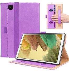 Lunso Luxe stand flip sleepcover hoes - Samsung Galaxy Tab A7 Lite - Paars