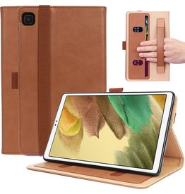 Lunso Luxe stand flip sleepcover hoes - Samsung Galaxy Tab A7 Lite - Bruin